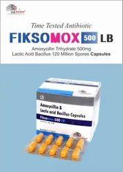 Amoxycillin 500 Mg + Lactic Acid Bacillus 120 Million Spores CAPSULE