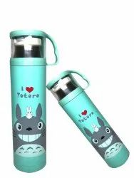 Hot & Cold Bottle For Outdoor Office Kids Water Drink Bottle 500ml Printed Thermos Bottle With Cup