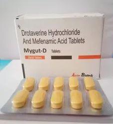 Drotaverine 80 Mg + Mefenamic 250 Mg Tablets