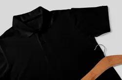 Polo Neck Half Sleeve Plain Mens Collar T Shirt