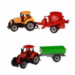 Tzoo Children Farm Park Farmer Set Tractor Toy with Trolley Mixer and Water & Milk Tanker
