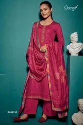 Ladies Printed Salwar Suit Material