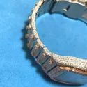 Moissanite Studded Iced Out Watch, 41mm Dial, EF/VVS Diamond 22