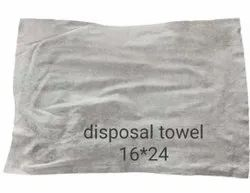 Paper White Woven Hand Towels Disposable, For Hotel, Size: 16x24 cm