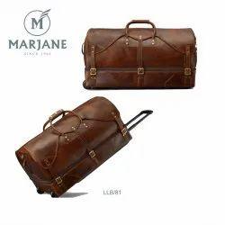 Plain Loop Handle Leather Travel Bags