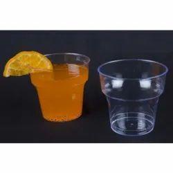 Plastic Plain 200ml Transparent Disposable Glass