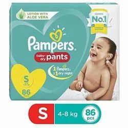 Pant Diapers Pampers Baby-Dry Diaper Pants Small, 86 Count, Age Group: 3-12 Months