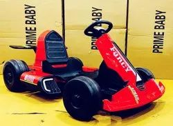 12V Dual Motor Red Color Electric Rideon Gokart For Kids