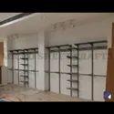 Mild Steel Wall Mounted Garment Showroom Display Rack
