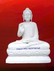 5.5 Feet Marble Buddha Statue