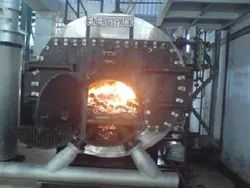 Solid Fuel Fired 1 TPH 3 Pass Packaged Steam Boiler IBR Approved