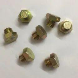 Golden Hexagonal Brass Bolt, For Kitchen, Size: 5mm