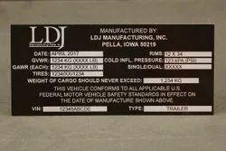 Black Aluminium Labels, Packaging Type: Packet