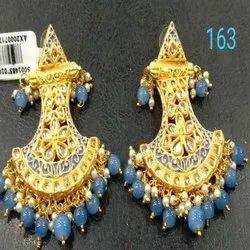 Uniqe Design Western Kundan  Earring Set For Women And Girl Bijoux