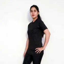 YSS Plain Ladies Dry Fit T Shirts, Size: Large