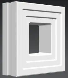 3D Square Jaali Breeze Block