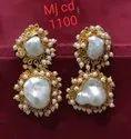 Mother Of Pearl  Baruk stone earring