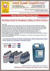 Metal Marking Batch Coding or Stamping Ink