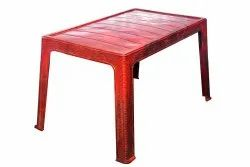 Red Plastic Center Table
