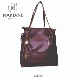 Marjane Plain Ladies Leather Hand Bag