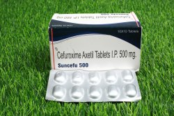 SUNCEFU 500 ( Cefuroxime 500 mg tab)