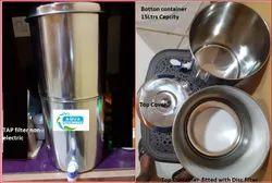 不锈钢白色米内仑水过滤器 - 推荐滤波器15ltr / hr在ss,为家庭