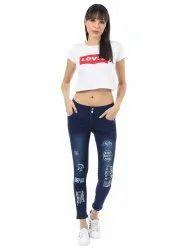 MELANIA Skinny Ladies Printed Denim Jeans