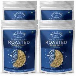 Healthy Treat Roasted Bajra Puff - Masala Combo 400 gm (Pack of 4, 100gm Each)  Gluten Free, Vegan
