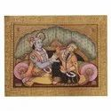 Radha Krishna Tanjore Painting On Paper Sheet