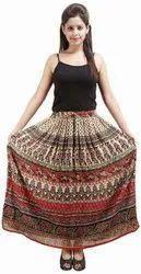 Bagru Print Rayon Skirt