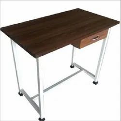 Metal And Wooden Teacher Table