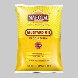 Nakoda Kachi Ghani Mustard Oil, Packaging Size: 1 Litre
