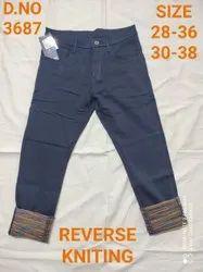Narrow Casual Mens Cotton Trouser
