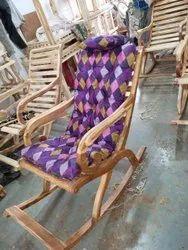 Brown Armrest Wooden Chair