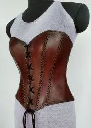 Medieval and LARP Handmade Genuine Full Size Leather Corset