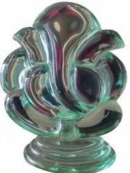 15 inch Glass Ganpati Statue