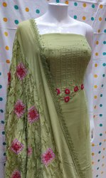 Pure Georgette With Handwork Suit, For Party Wear