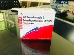 Sulphamethoxazole & Trimethoprim Boluses I.P. (Vet.)