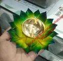 Flower Shape Metal Diya
