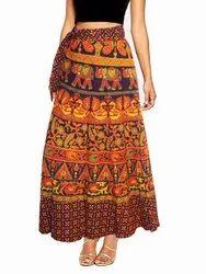 Naphthol Print Wrap Around Skirt