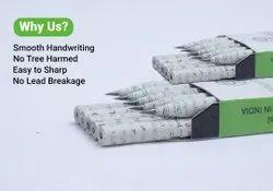 Black Wood Eco Friendly Newspaper Pencil, Packaging Size: 10pencils + Eraser + Sharpener