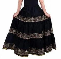 Ladies Cotton Fancy Skirt