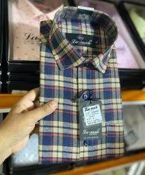 Premium Cotton Full Sleeves Men Casual Check Shirt