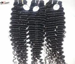 Remy Human Hair Curly Machine Weft
