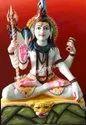 3 Feet Sitting Lord Shiva Marble Statue