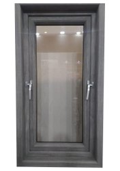Residential Grey UPVC Window, Glass Thickness: 10 mm