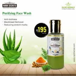 Herbal Greenish Yellow Farm Secrets Purifying Face Wash, Age Group: Adults, Packaging Size: 100ML