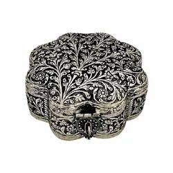 Metal Silver Plated Jewellery Box For Wedding & Corporate Gift