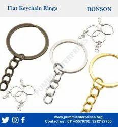 flat keychain ring