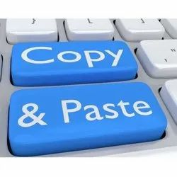 20 Days ISO9001 Copy And Paste Data Entry Work, Service Provider
